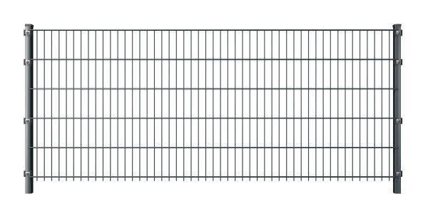 Doppelstabmattenzaun 6/5/6 anthrazit (RAL 7016)