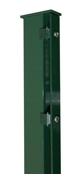 Pfosten mit Abdeckleiste grün (RAL 6005) 60x40