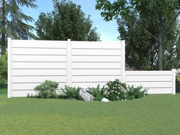 Steckzaun-Sichtschutz-Komplettbausatz für 180x180cm-Element