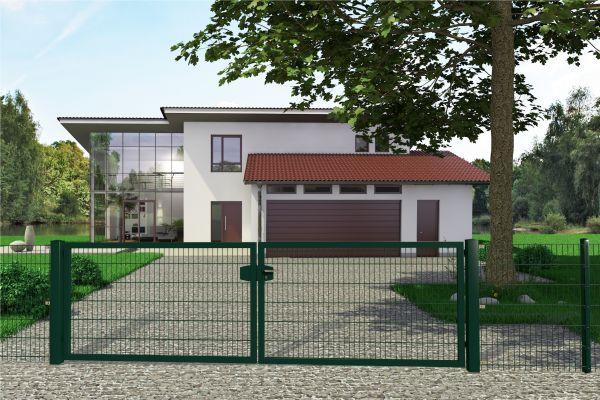 Gartentor Premium 2-flüglig, symmetrisch grün (RAL 6005)