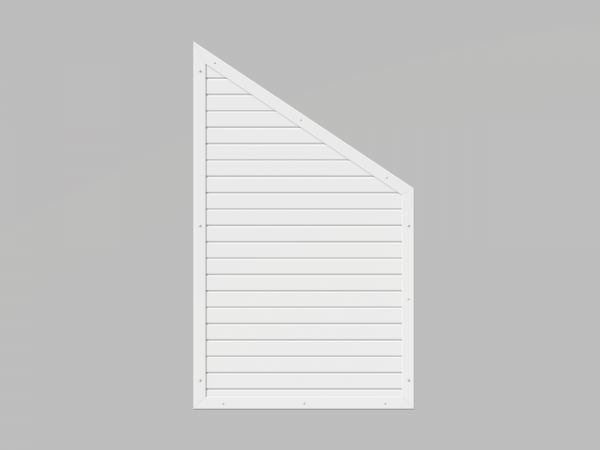 Sichtschutzelement aus Fenster-Kunststoff, Abschluss, 90x150/90cm