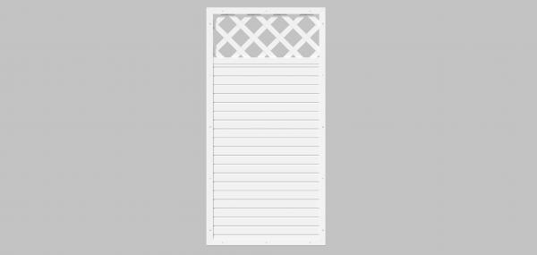 Sichtschutz Kombi-Element aus Fenster-Kunststoff, 90x180cm