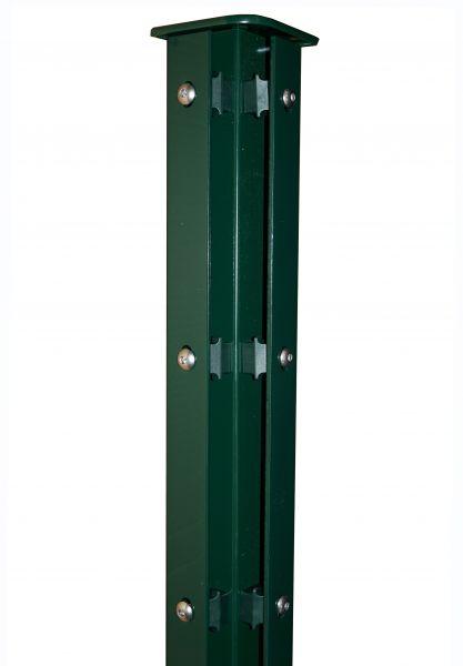 Eckpfosten mit Abdeckleiste grün (RAL 6005) 60x60