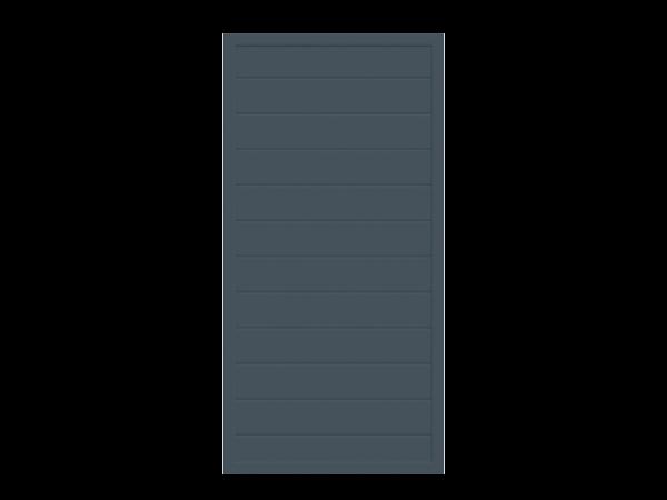 Alu-Sichtschutz rechteckig, anthrazit