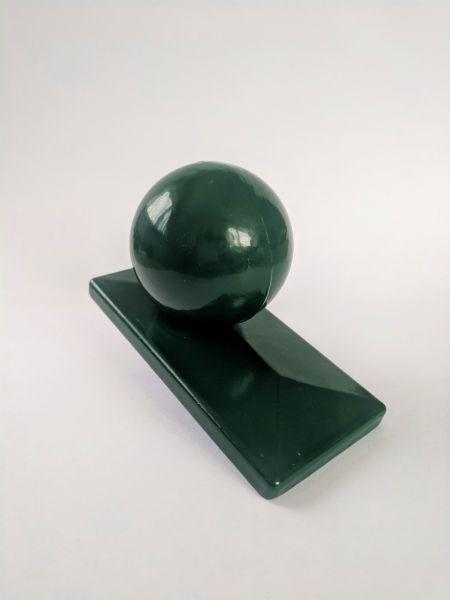 """Pfostenkappe """"Kugel"""" grün, mit Überstand"""