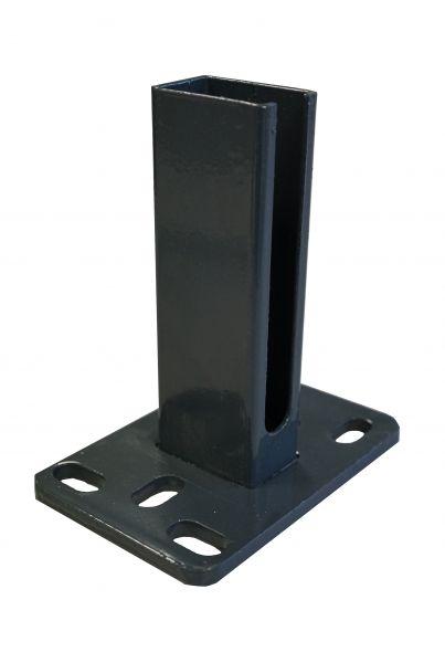 Montagefußplatte anthrazit